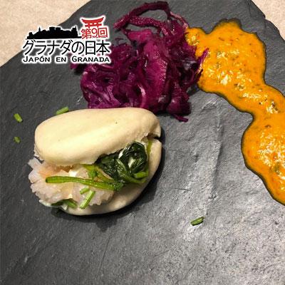 Pan-Bao con Cangrejo de las Nieves